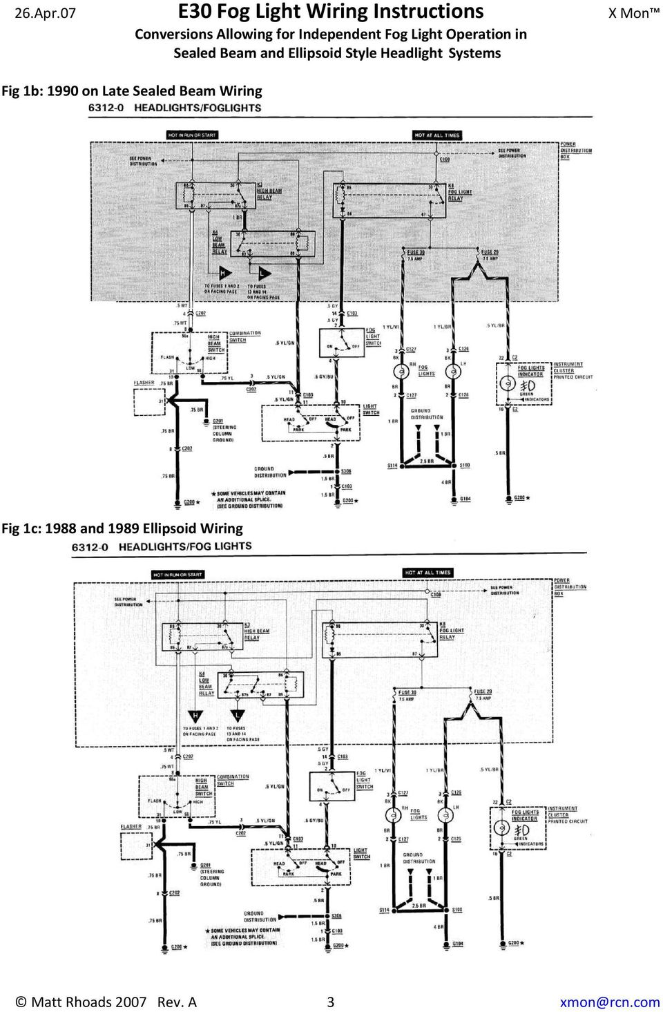 e30 fog light wiring instructions conversions allowing for rh docplayer net E30 Fuse Box Diagram bmw e30 fog light wiring diagram
