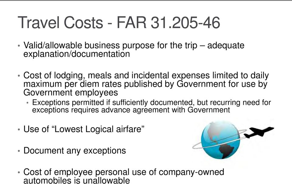 FAR PART 31 & COST ACCOUNTING STANDARDS (CAS) An Overview - PDF