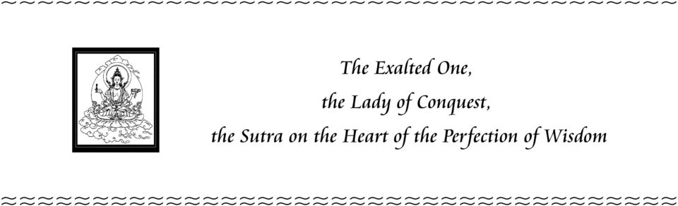 Sutra on the Heart of the Perfection of
