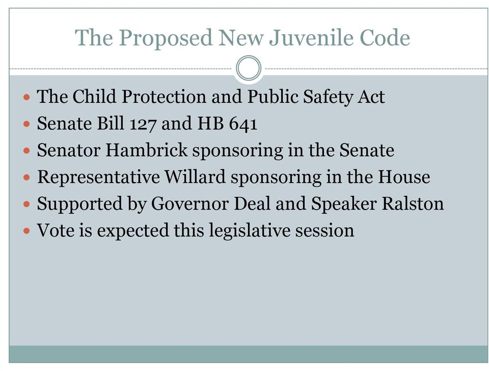 Senate Representative Willard sponsoring in the House Supported by
