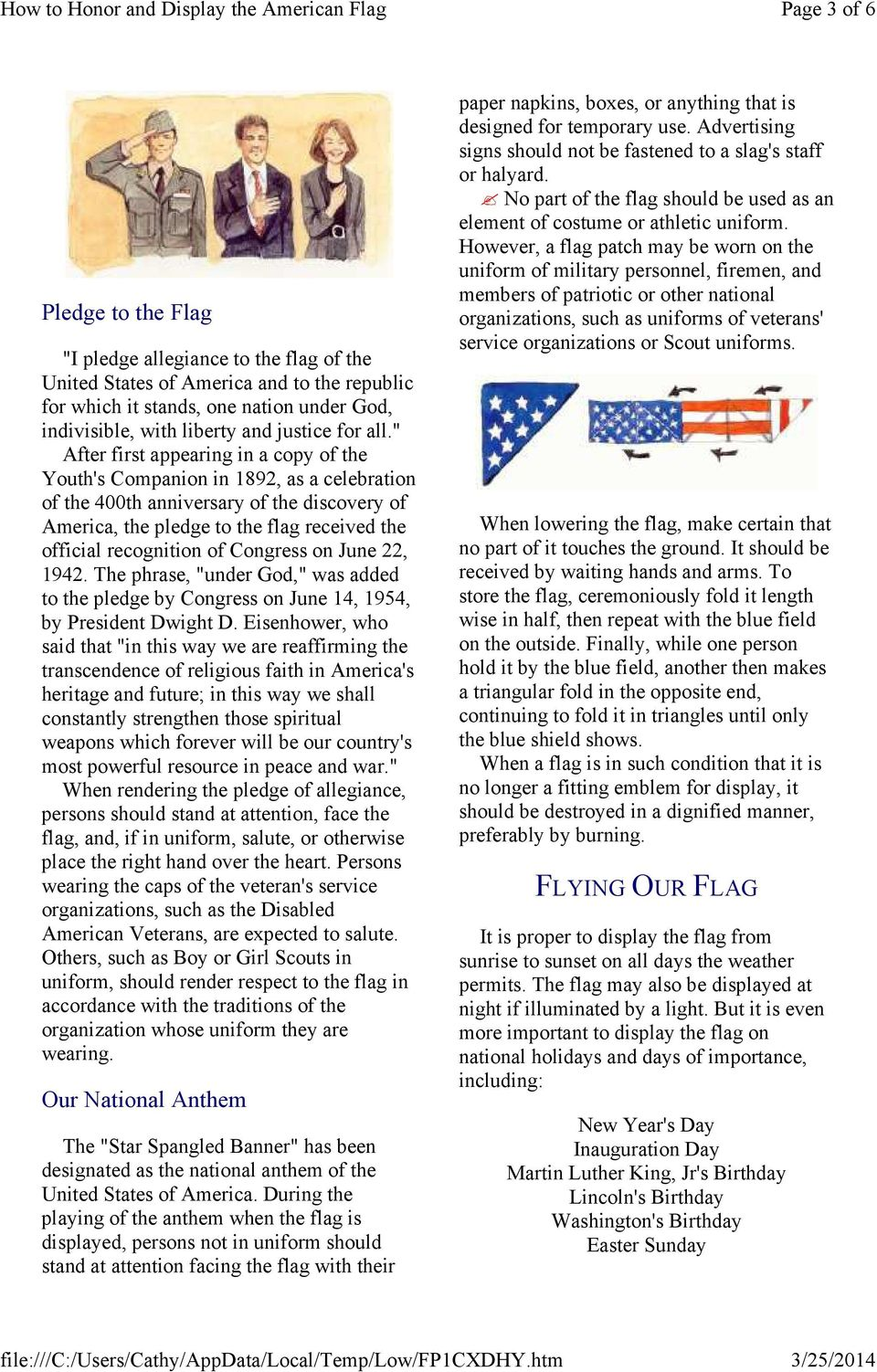 """ After first appearing in a copy of the Youth's Companion in 1892, as a celebration of the 400th anniversary of the discovery of America, the pledge to the flag received the official recognition of"