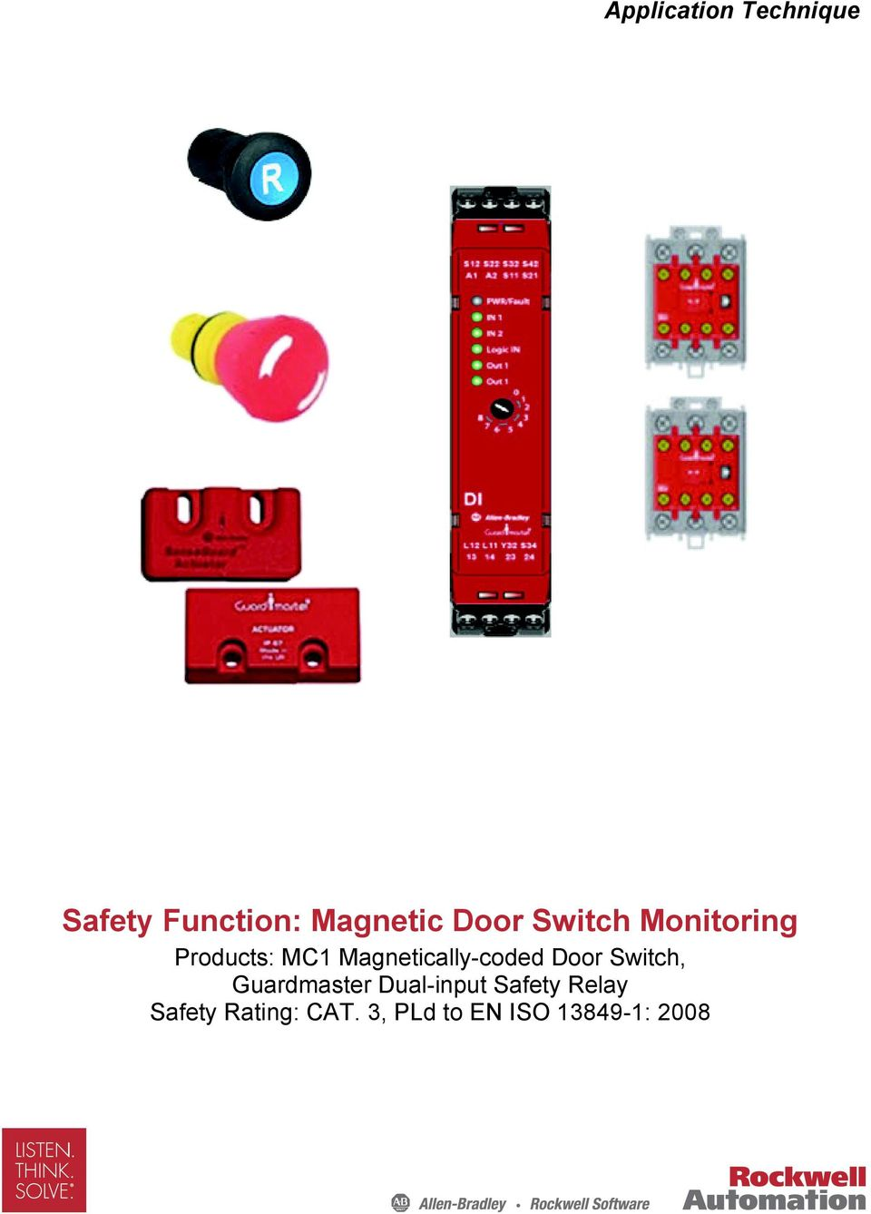 Magnetically-coded Door Switch, Guardmaster