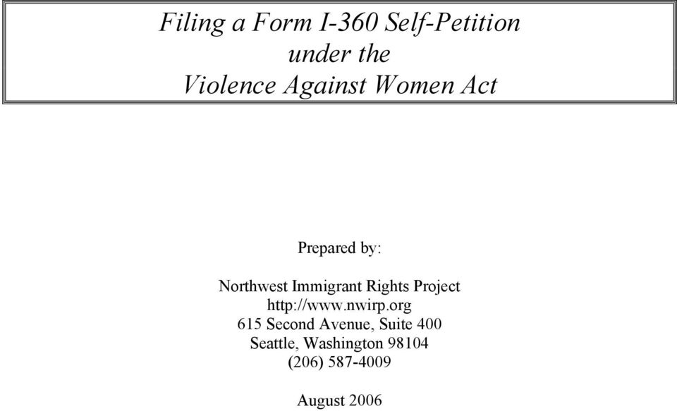 Rights Project http://www.nwirp.