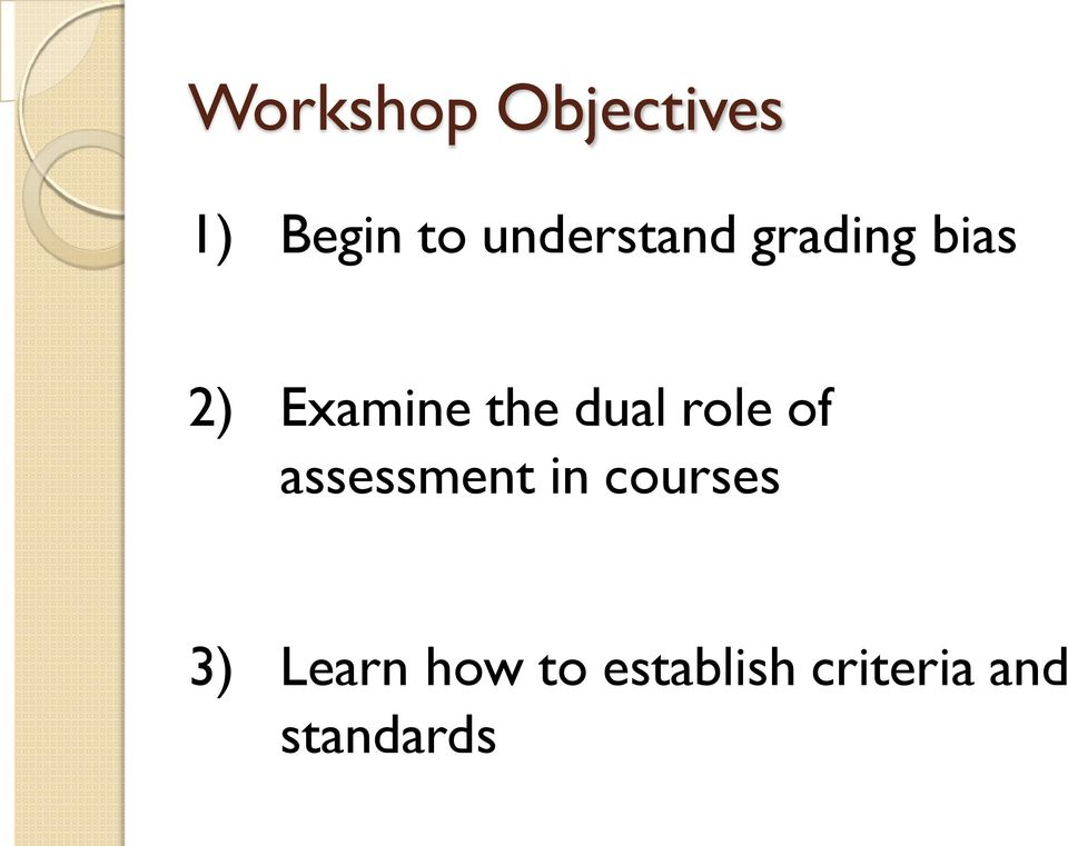 dual role of assessment in courses 3)