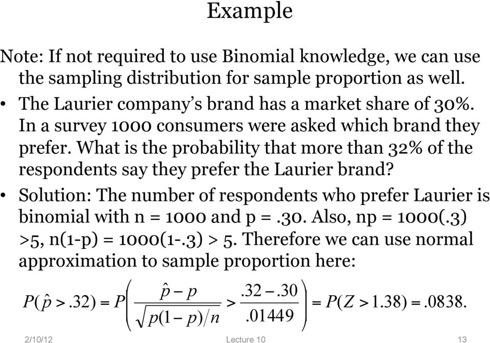 What is the probability that more than 32% of the respondents say they prefer the Laurier brand?
