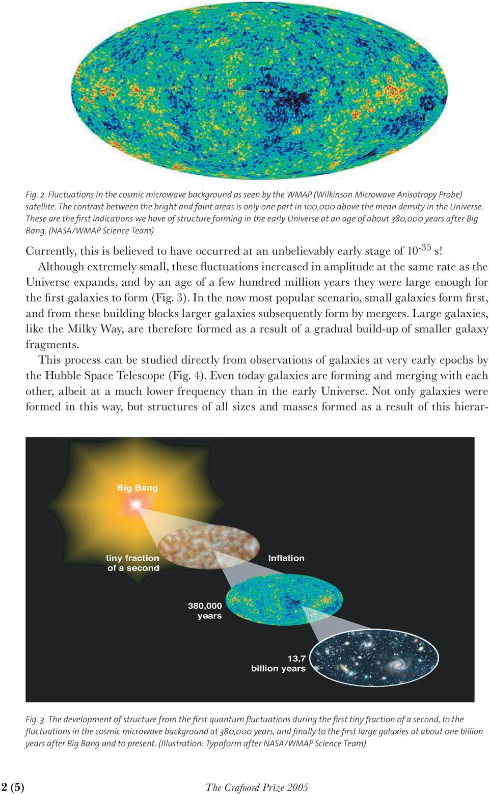 These are the first indications we have of structure forming in the early Universe at an age of about 380,000 years after Big Bang.