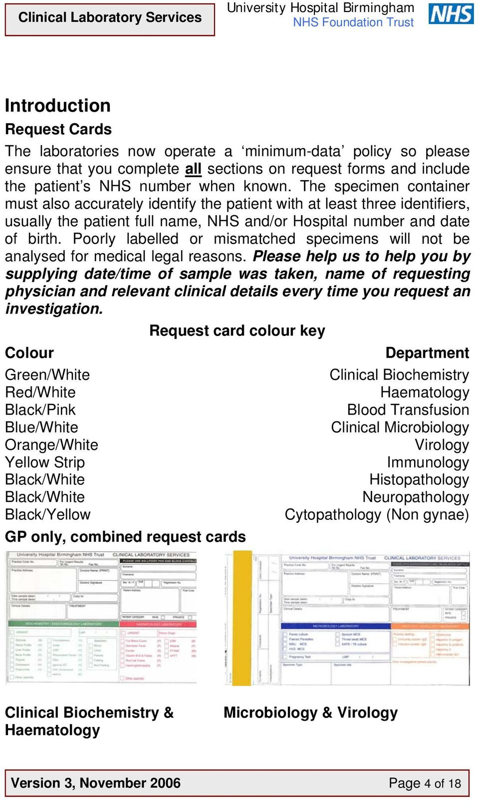 Guide  to Specimen Containers for Pathology Requests