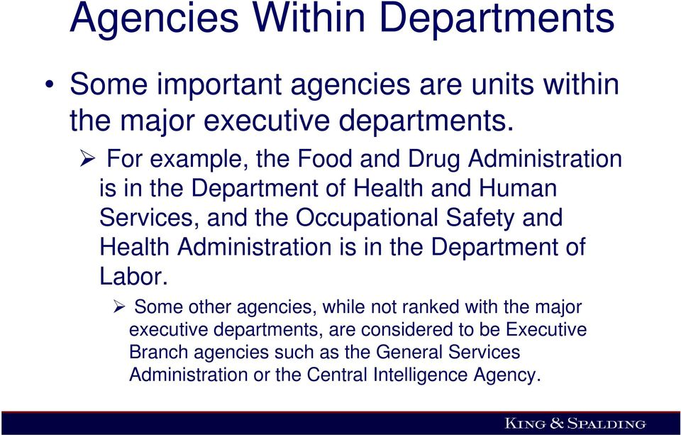 Safety and Health Administration is in the Department of Labor.