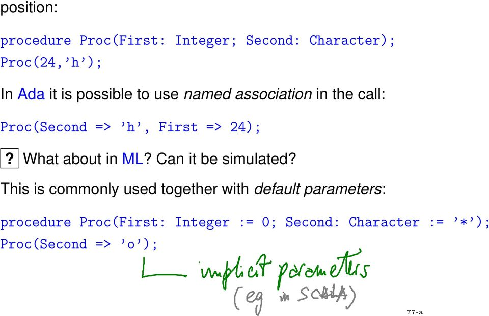 What about in ML? Can it be simulated?