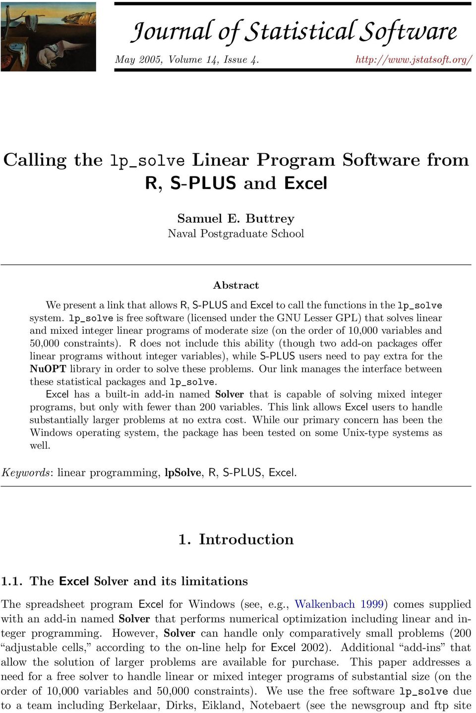 Journal of Statistical Software - PDF