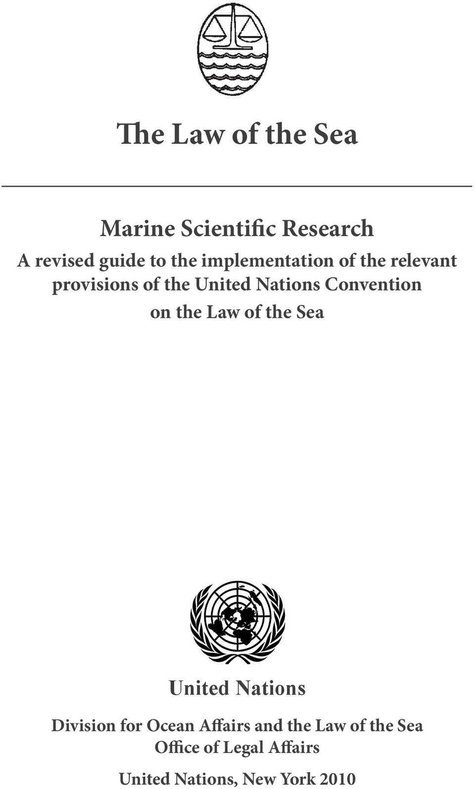 Convention on the Law of the Sea United Nations Division for Ocean