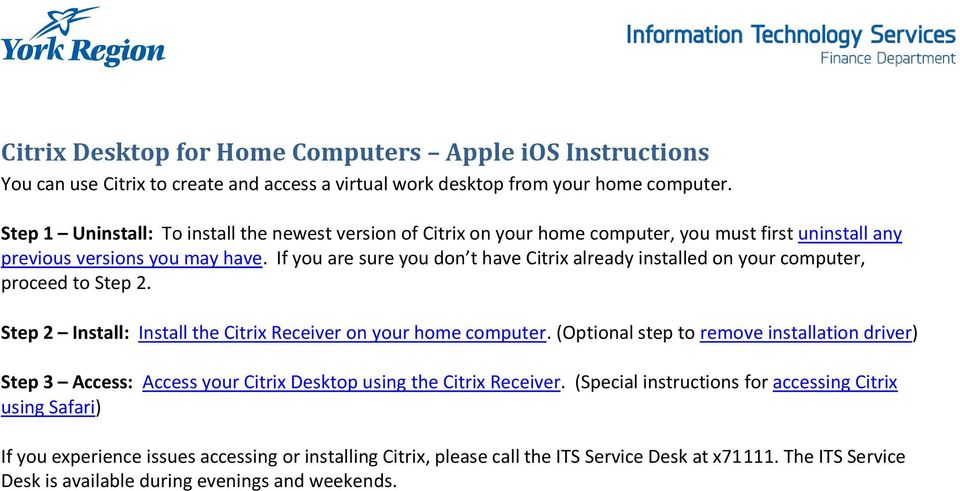 Citrix Desktop for Home Computers Apple ios Instructions - PDF