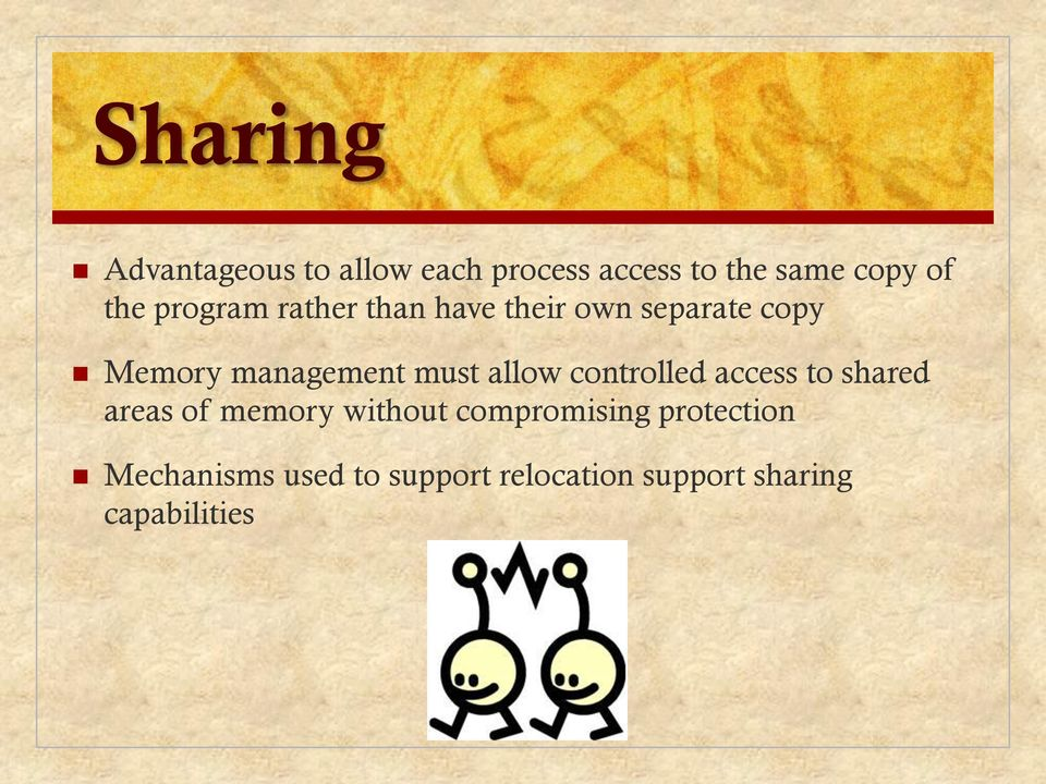 allow controlled access to shared areas of memory without compromising