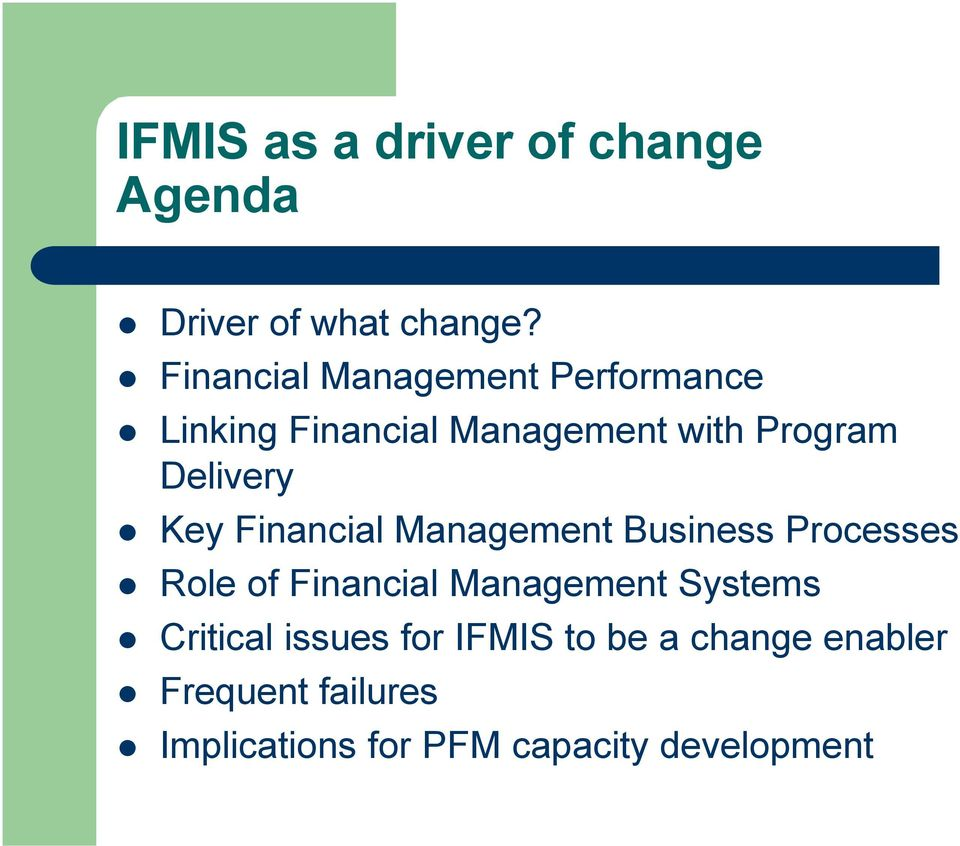 Delivery Key Financial Management Business Processes Role of Financial Management