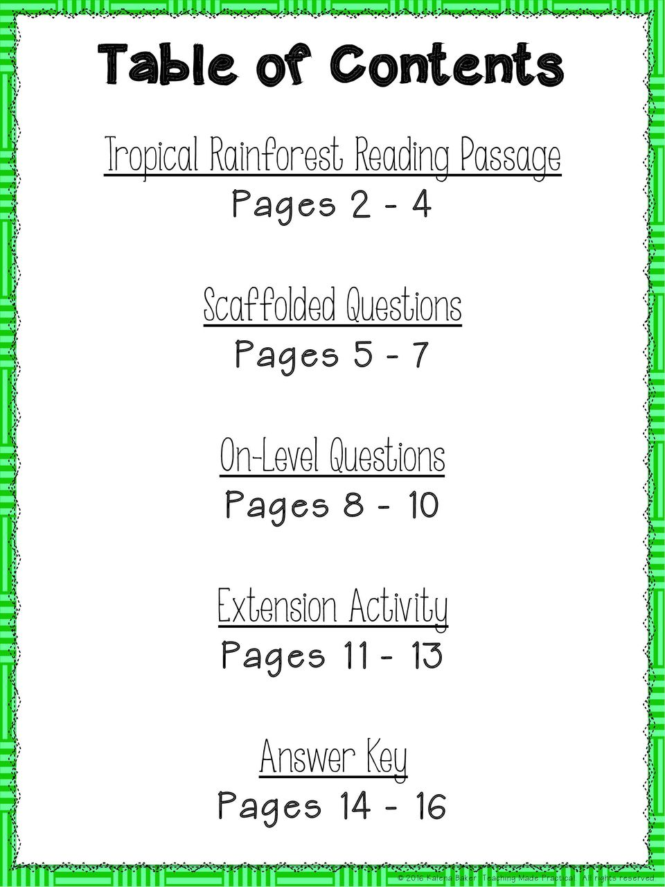 Questions Pages 5-7 On-Level Questions Pages