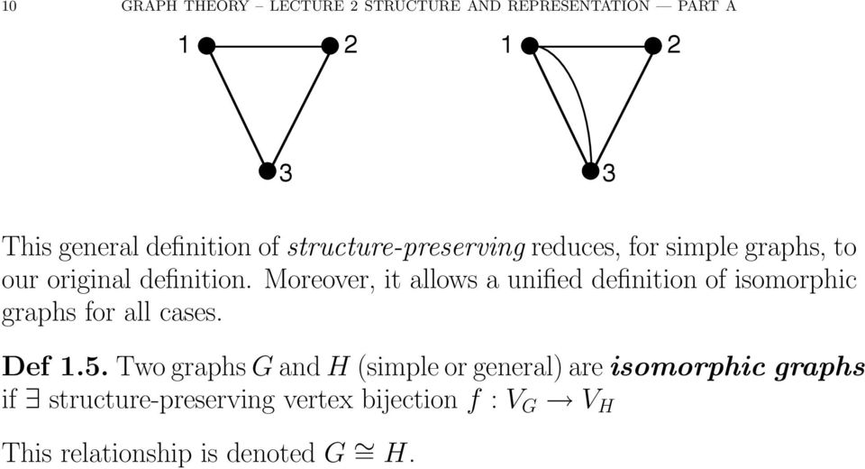 Moreover, it allows a unified definition of isomorphic graphs for all cases. Def.5.