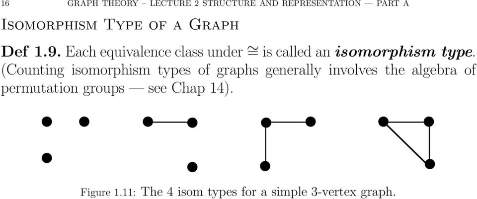(Counting isomorphism types of graphs generally involves the algebra of