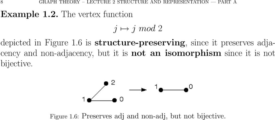 6 is structure-preserving, since it preserves adjacency and non-adjacency,