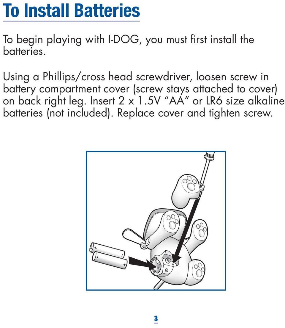 Using a Phillips/cross head screwdriver, loosen screw in battery compartment