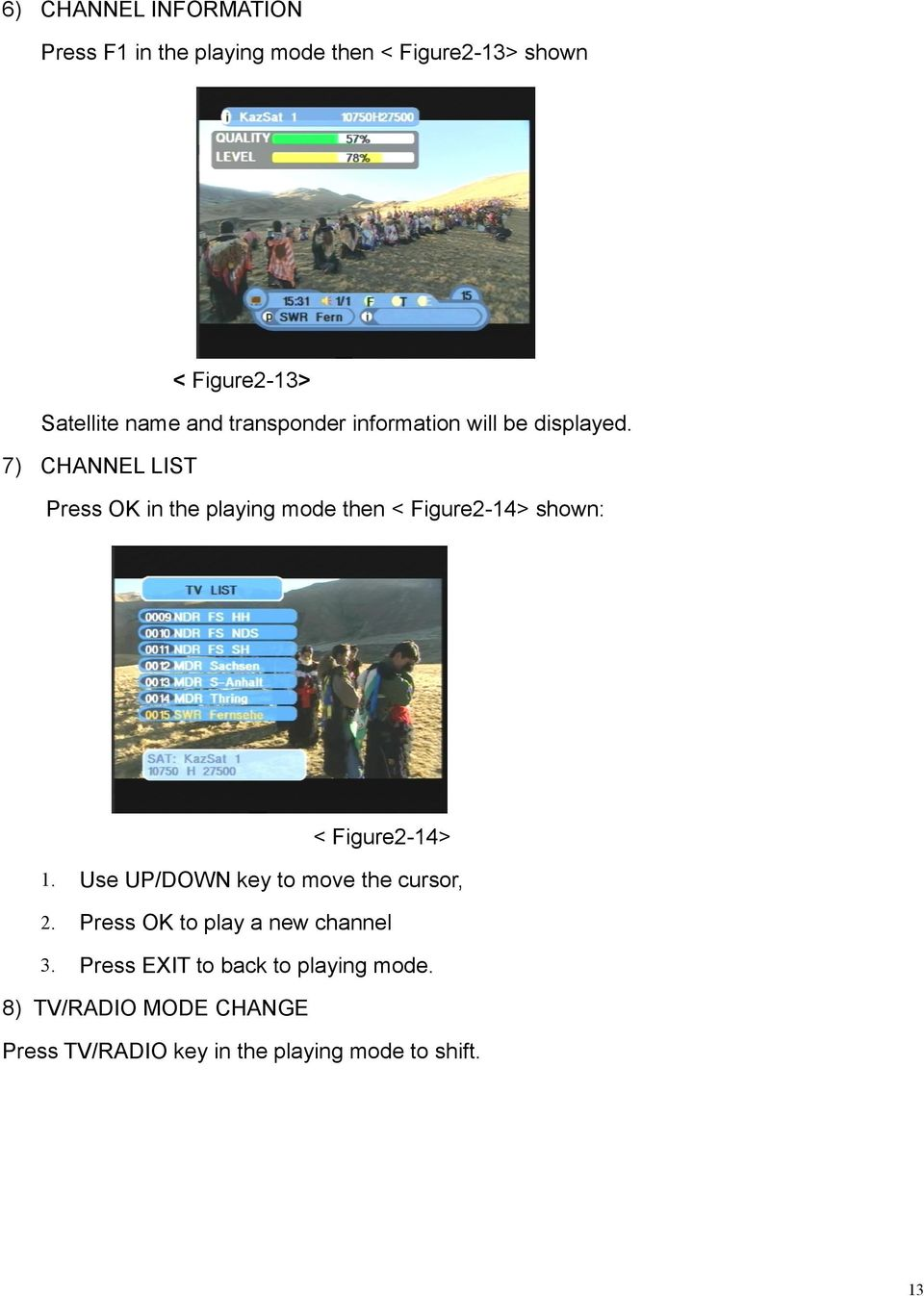 7) CHANNEL LIST Press OK in the playing mode then < Figure2-14> shown: < Figure2-14> 1.