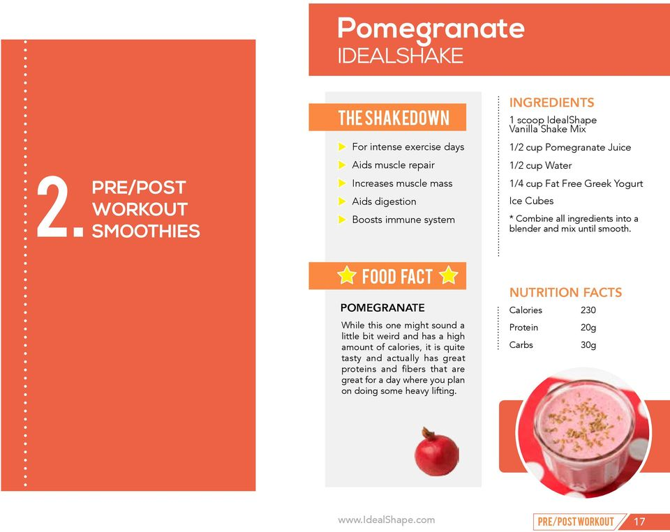 POMEGRANATE While this one might sound a little bit weird and has a high amount of calories, it is quite tasty