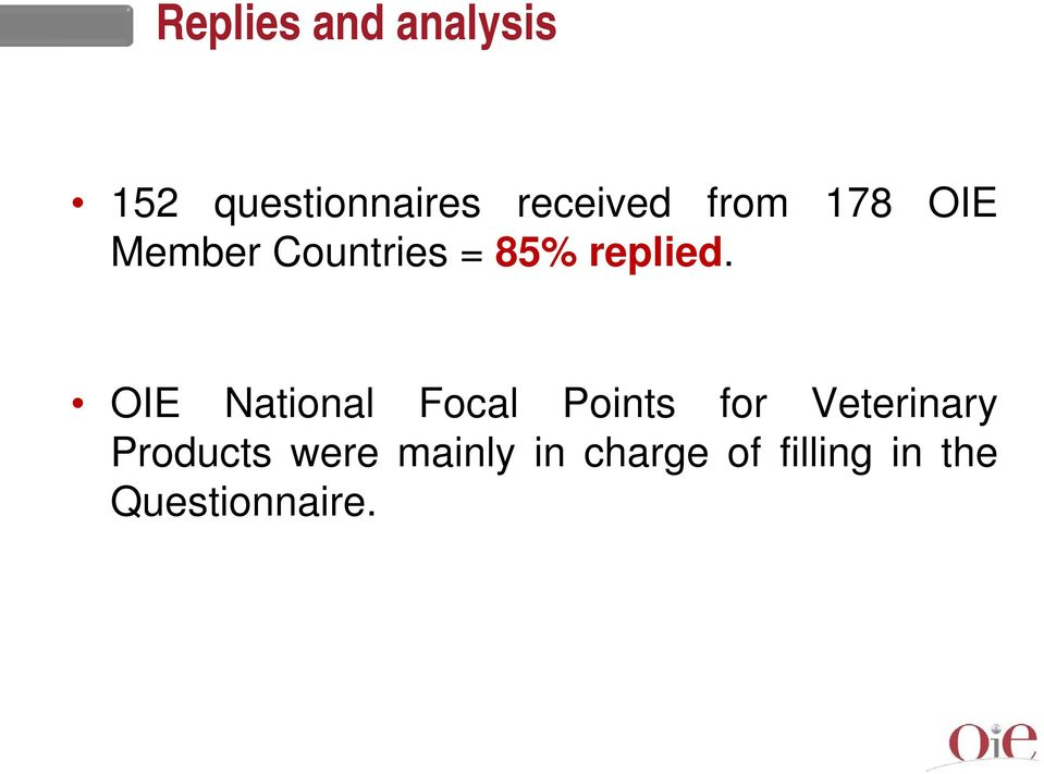 OIE National Focal Points for Veterinary Products