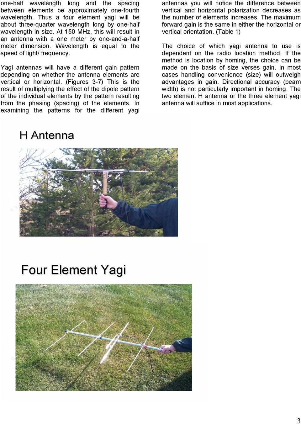 Yagi antennas will have a different gain pattern depending on whether the antenna elements are vertical or horizontal.