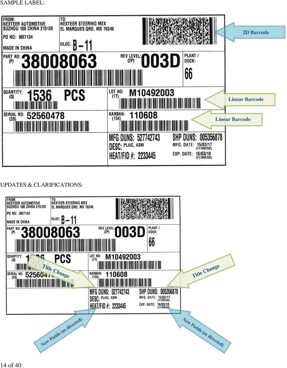 Linear Barcode UPDATES