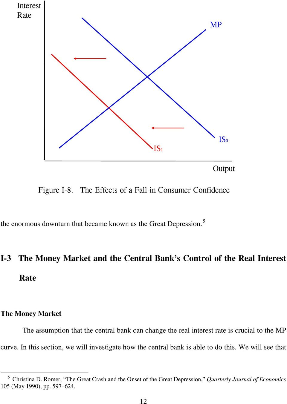 5 I-3 The Money Market and the Central Bank s Control of the Real Interest Rate The Money Market The assumption that the central bank can change