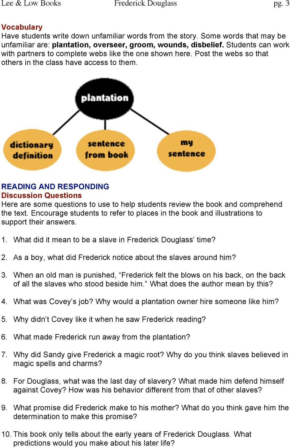 READING AND RESPONDING Discussion Questions Here are some questions to use to help students review the book and comprehend the text.