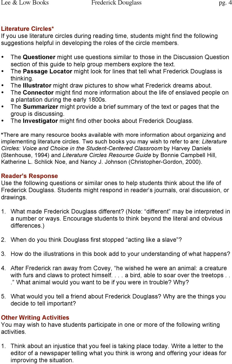 The Questioner might use questions similar to those in the Discussion Question section of this guide to help group members explore the text.