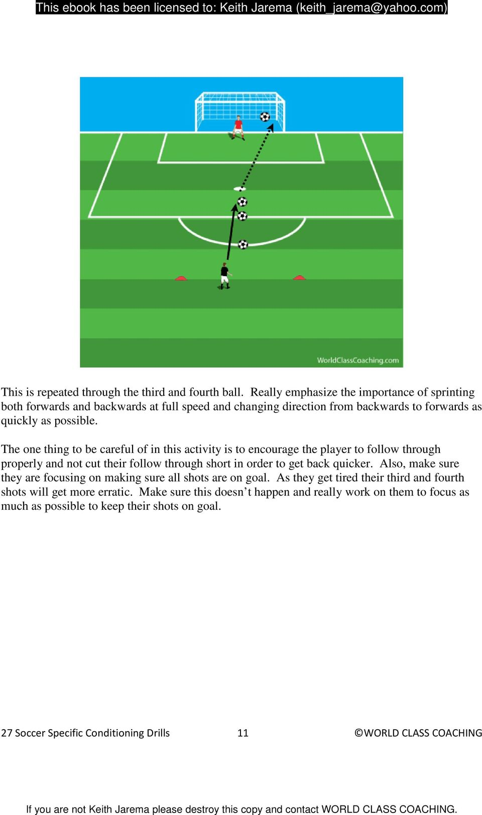 The one thing to be careful of in this activity is to encourage the player to follow through properly and not cut their follow through short in order to get back quicker.