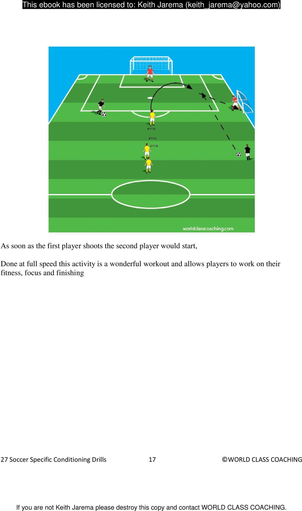 and allows players to work on their fitness, focus and