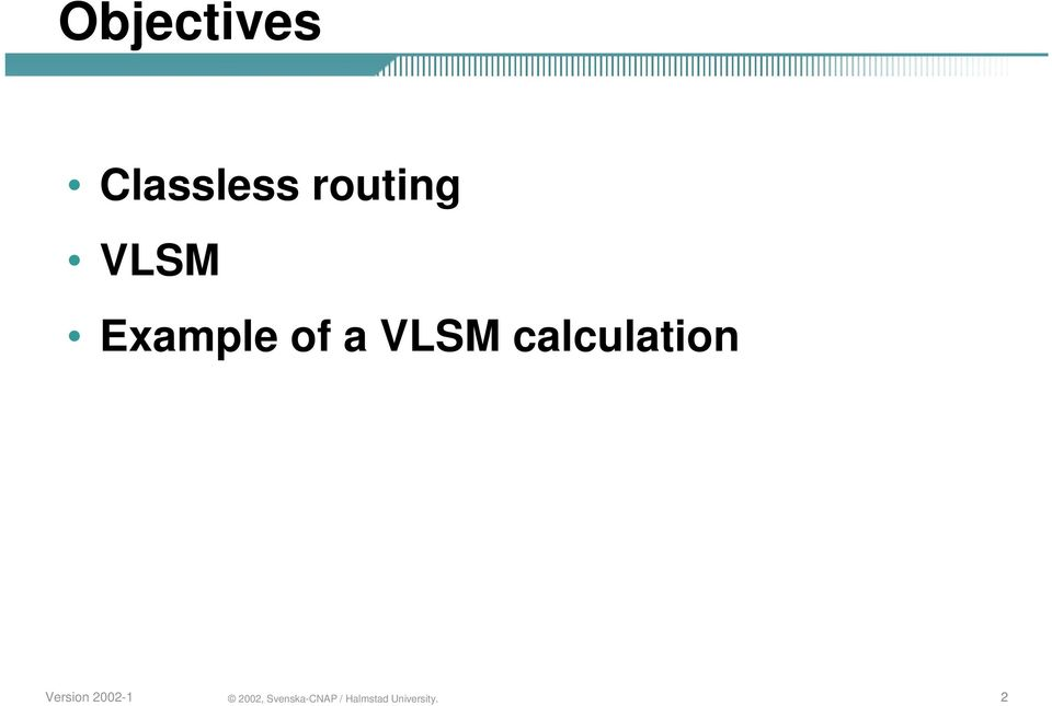 routing VLSM