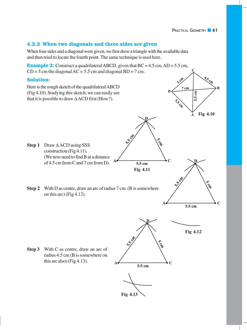 Practical geometry chapter 41 introduction do this pdf the same technique is used here example 2 construct a quadrilateral abcd given ccuart Images