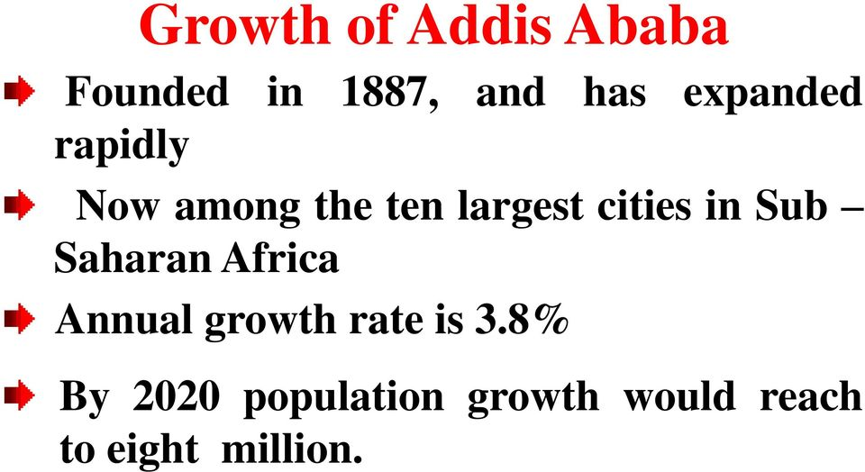 in Sub Saharan Africa Annual growth rate is 3.