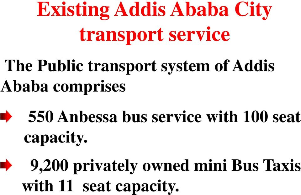 550 Anbessa bus service with 100 seat capacity.