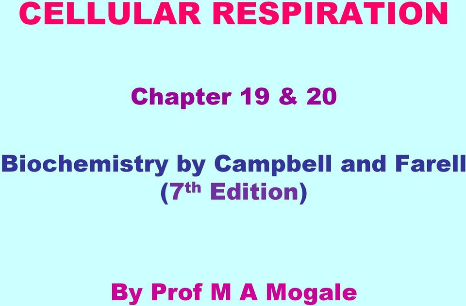 Biochemistry by Campbell