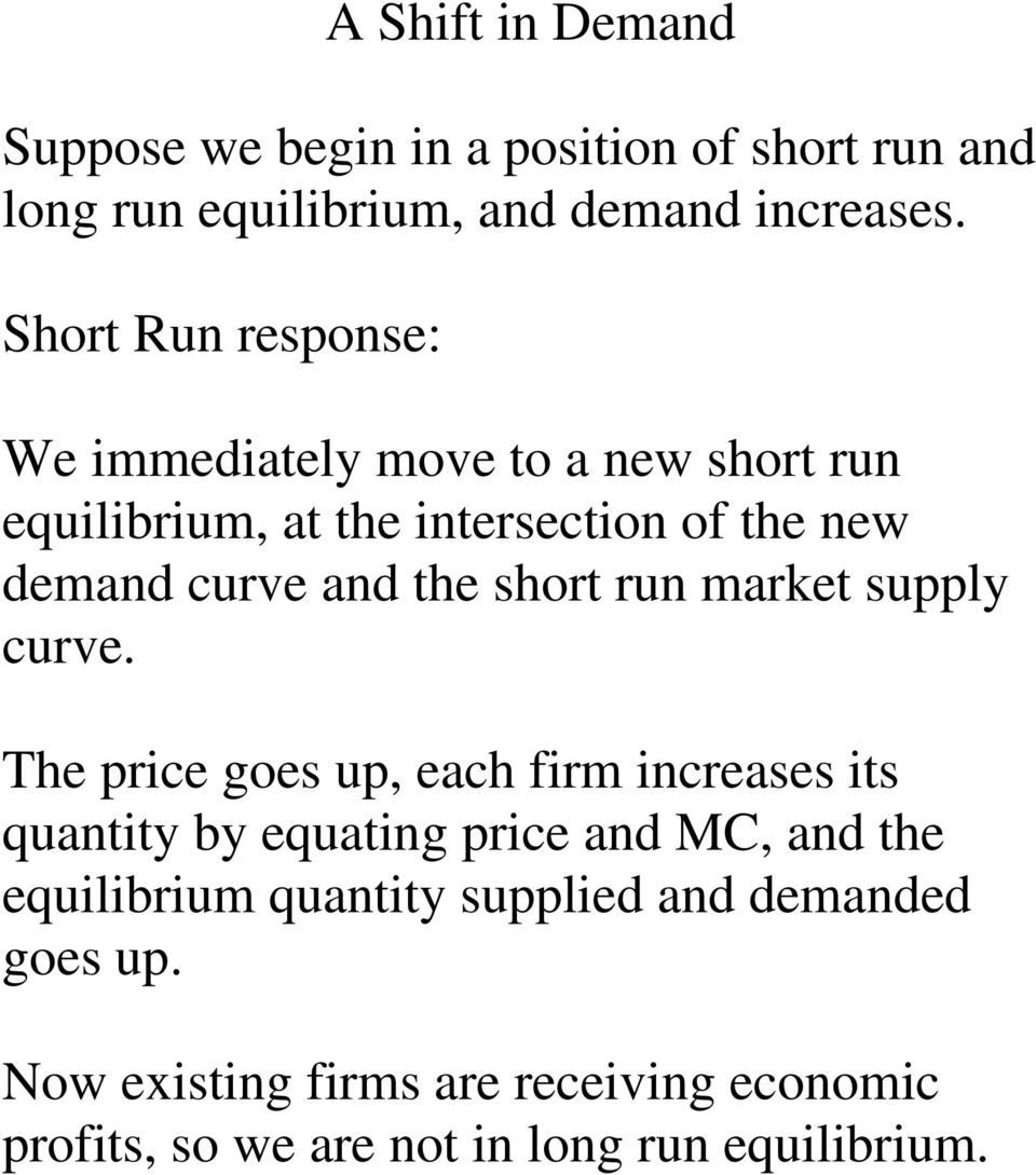 the short run market supply curve.