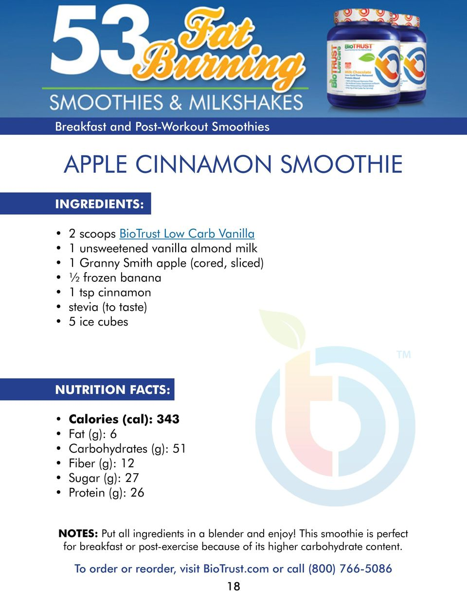 (g): 51 Fiber (g): 12 Sugar (g): 27 Protein (g): 26 Notes: Put all ingredients in a blender and enjoy!