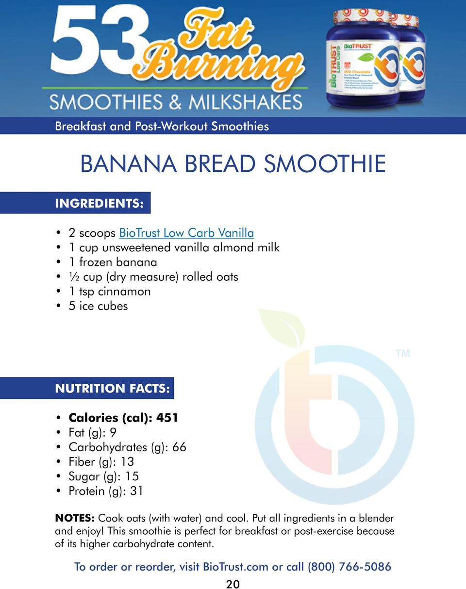 Fiber (g): 13 Sugar (g): 15 Protein (g): 31 Notes: Cook oats (with water) and cool.