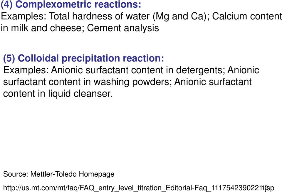 detergents; Anionic surfactant content in washing powders; Anionic surfactant content in liquid cleanser.