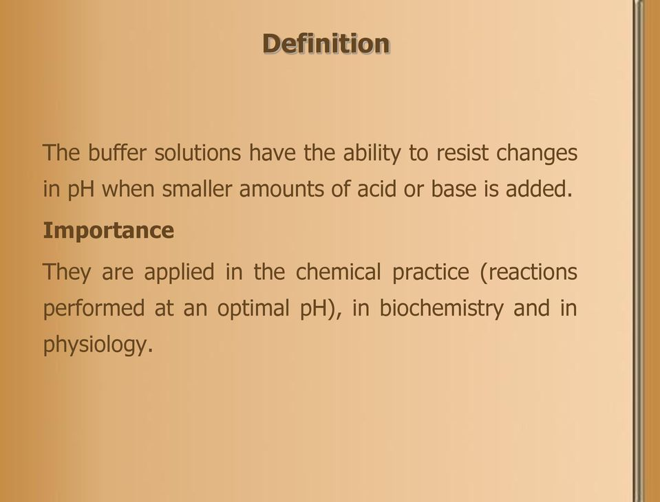 Importance They are applied in the chemical practice