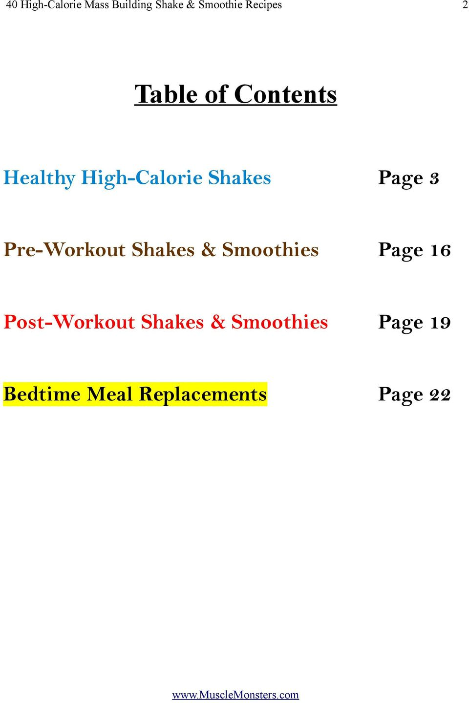 Pre-Workout Shakes & Smoothies Page 16 Post-Workout