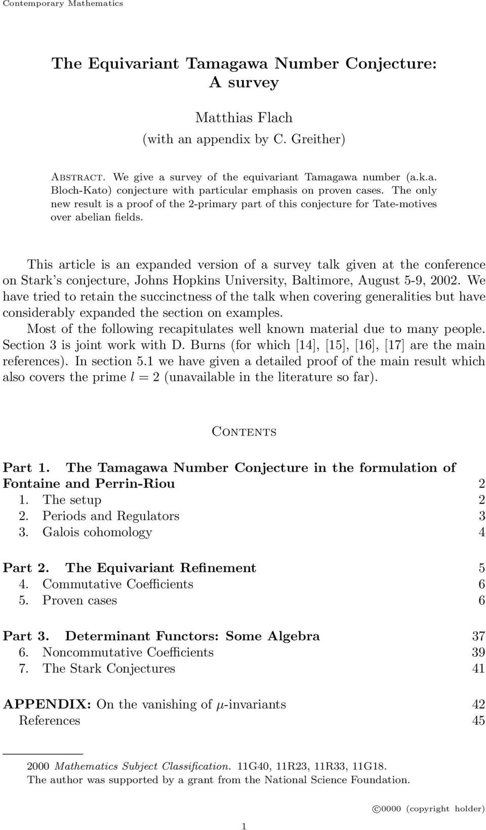 This article is an expanded version of a survey talk given at the conference on Stark s conjecture, Johns Hopkins University, Baltimore, August 5-9, 2002.