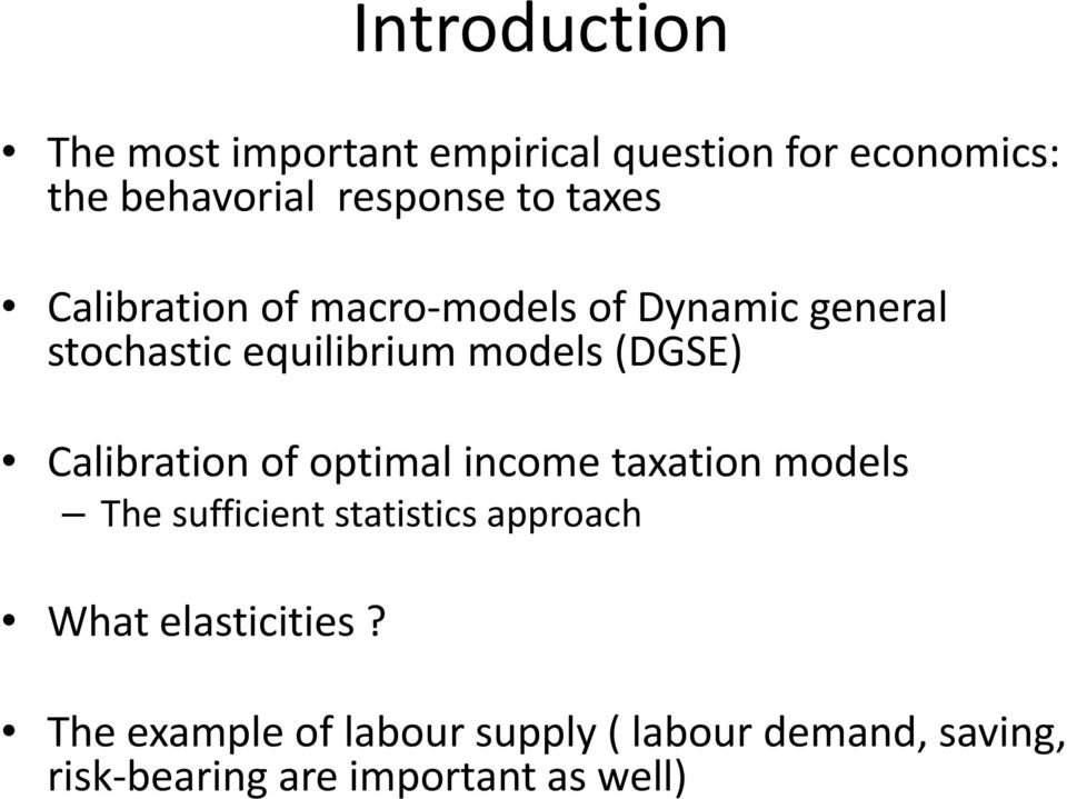 Calibration of optimal income taxation models The sufficient statistics approach What