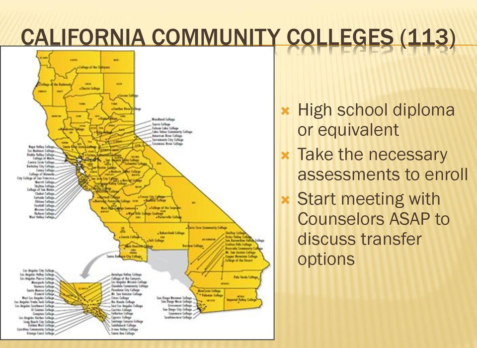 necessary assessments to enroll Start