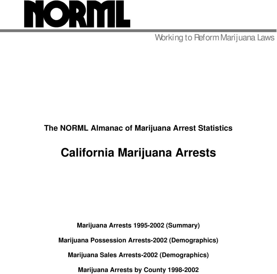 1995-2002 (Summary) Marijuana Possession Arrests-2002 (Demographics)
