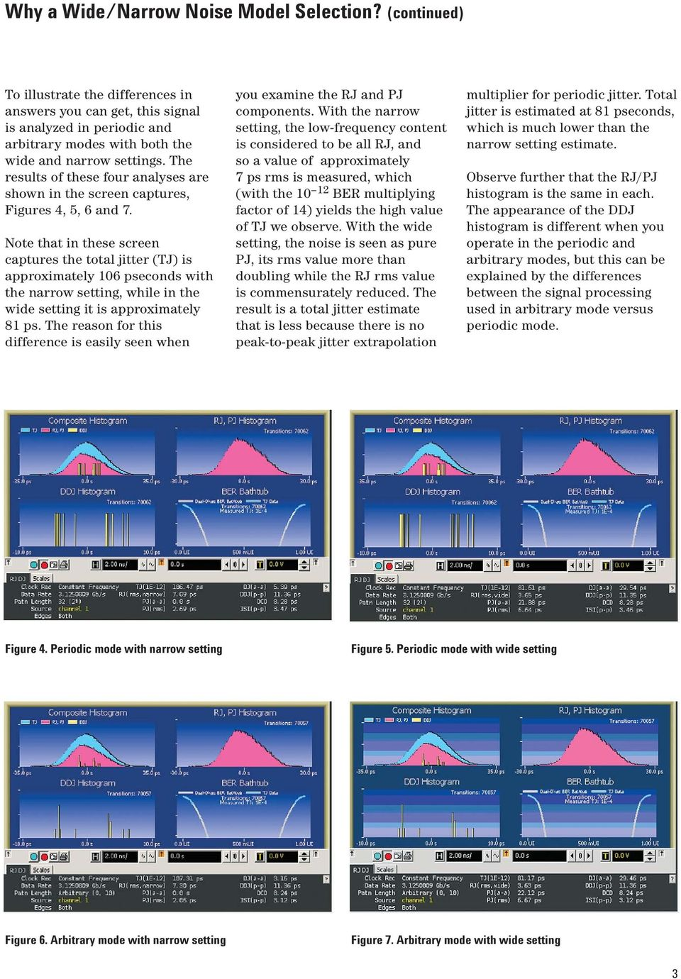 The results of these four analyses are shown in the screen captures, Figures 4, 5, 6 and 7.