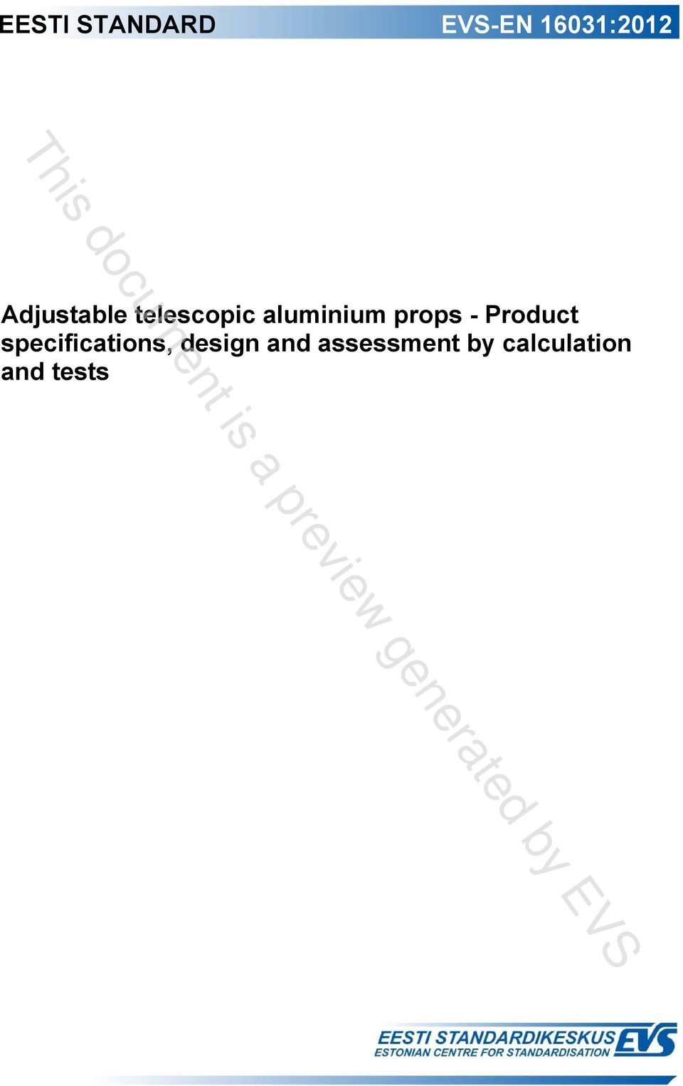 props - Product specifications,